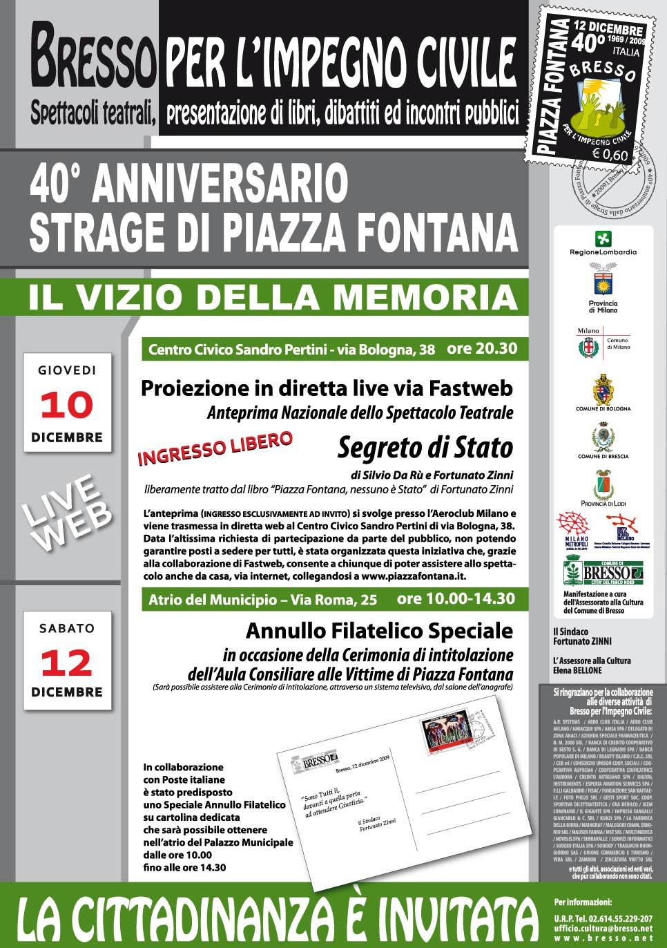manifesto eventi del 10 e del 12 dicembre