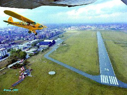 aereoporto di bresso visto dall'alto