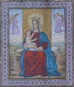 Mosaico sulla facciata dell'Oratorio della Madonna del Pilastrello