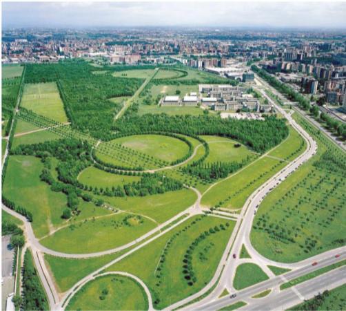 veduta aerea del Parco Nord