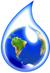 Goccia d'acqua che ingloba il mondo